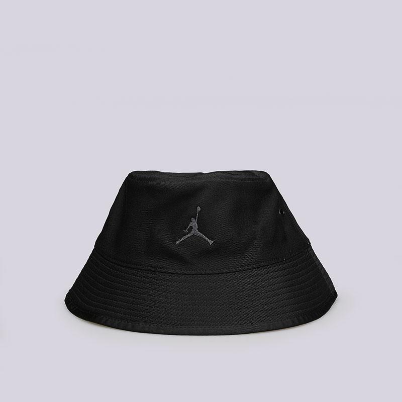 Панама Jordan Bucket HatКепки<br>Полиэстер, хлопок<br><br>Цвет: Черный<br>Размеры US: L/XL