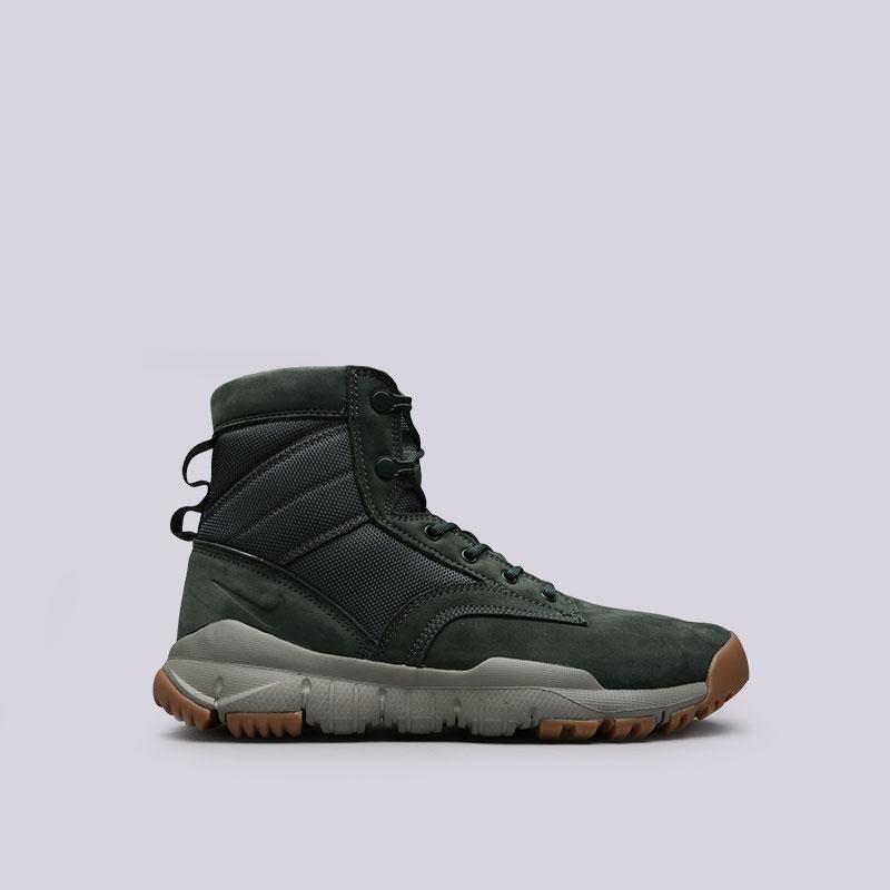 Кроссовки Nike SFB 6Кроссовки lifestyle<br>Кожа, текстиль, резина, пластик<br><br>Цвет: Зелёный<br>Размеры US: 8;8.5;9;9.5<br>Пол: Мужской