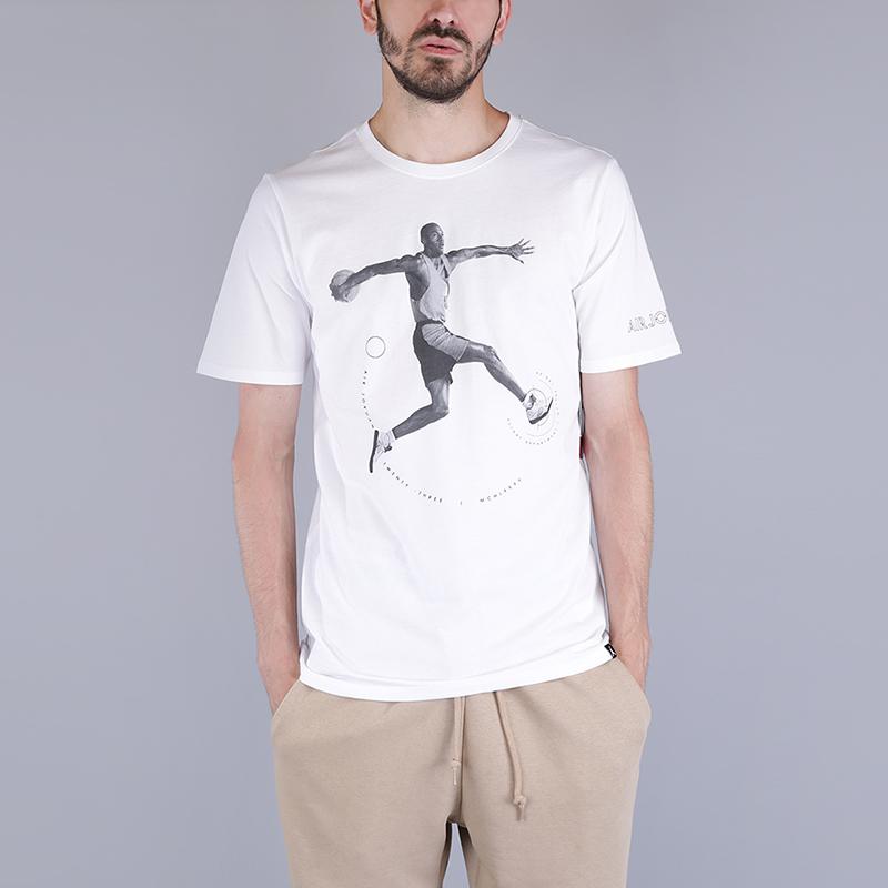 Футболка Jordan Retro 5 T-ShirtФутболки<br>100% хлопок<br><br>Цвет: Белый<br>Размеры US: S;M;L;XL<br>Пол: Мужской