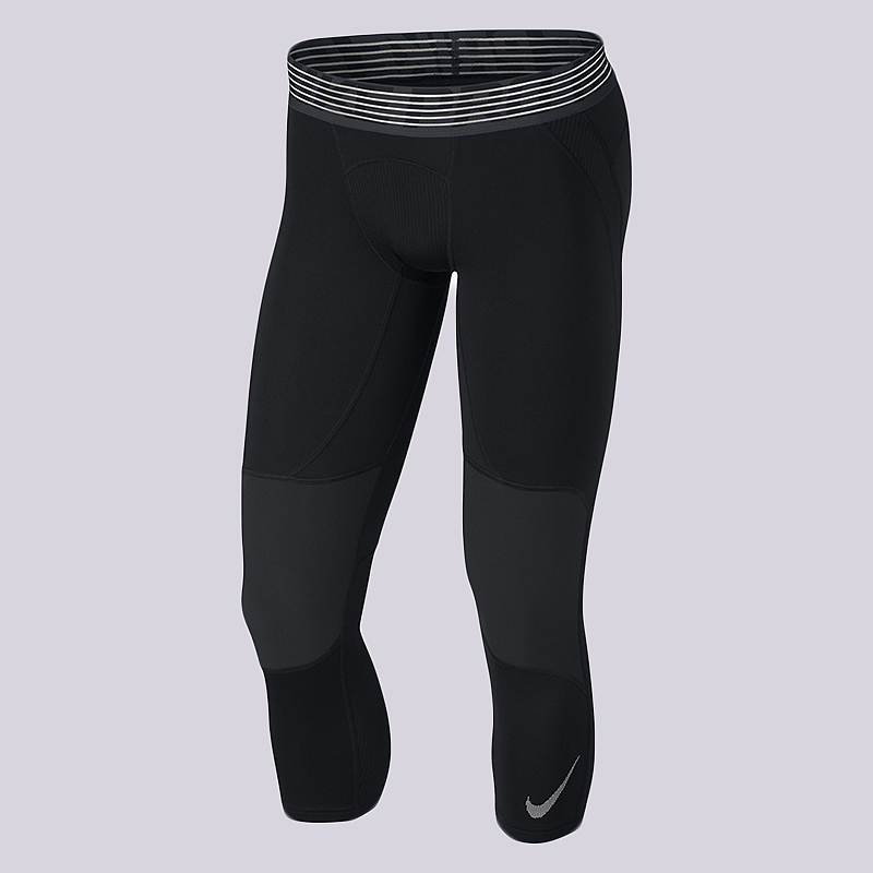Тайтсы Nike Pro Dry 3/4 Basketball TightsКомпрессионное белье<br>90% полиэстер, 10% эластан<br><br>Цвет: Черный<br>Размеры US: S;M;XL;2XL<br>Пол: Мужской