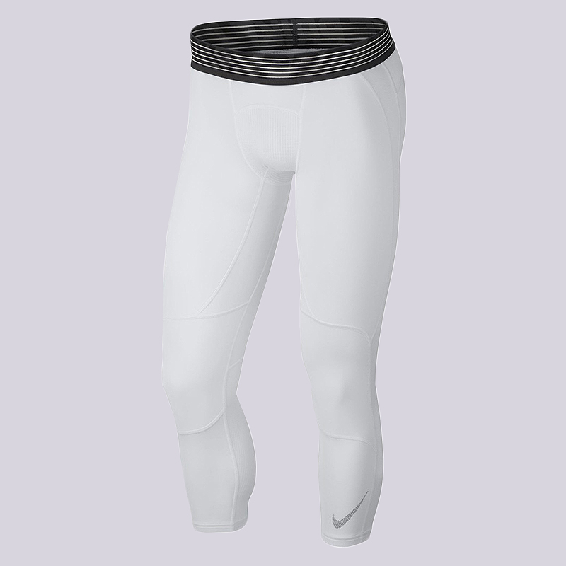 Тайтсы Nike Pro Dry 3/4 Basketball TightsКомпрессионное белье<br>90% полиэстер, 10% эластан<br><br>Цвет: Белый<br>Размеры US: S;M;L;XL;2XL<br>Пол: Мужской