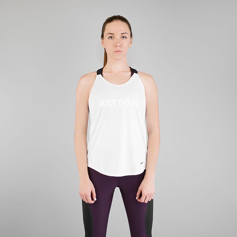 Майка Nike Breathe Elastika GRXФутболки<br>Полиэстер, эластан<br><br>Цвет: Белый<br>Размеры US: S;M;L<br>Пол: Женский