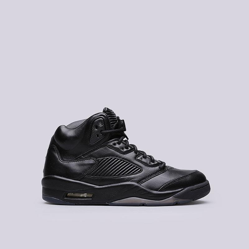 Кроссовки Jordan V Retro PRMКроссовки lifestyle<br>Кожа, синтетика, резина<br><br>Цвет: Черный<br>Размеры US: 8;8.5;9.5;10;11;11.5<br>Пол: Мужской