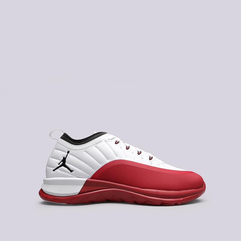 Кроссовки Jordan Trainer PrimeКроссовки lifestyle<br>Текстиль, резина, пластик<br><br>Цвет: Белый, красный<br>Размеры US: 8;8.5;9;10;11;11.5;12;13;15<br>Пол: Мужской