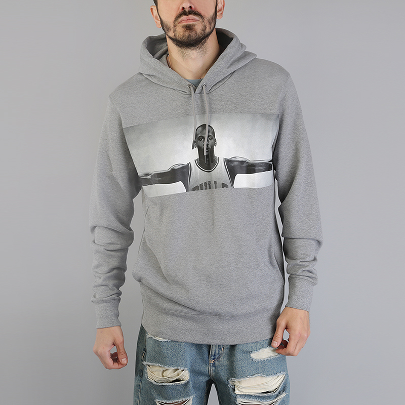 Толстовка Jordan Sportswear Legend Flight Lite HoodieТолстовки свитера<br>80% хлопок, 20% полиэстер<br><br>Цвет: Серый<br>Размеры US: S;M;L;XL;2XL<br>Пол: Мужской