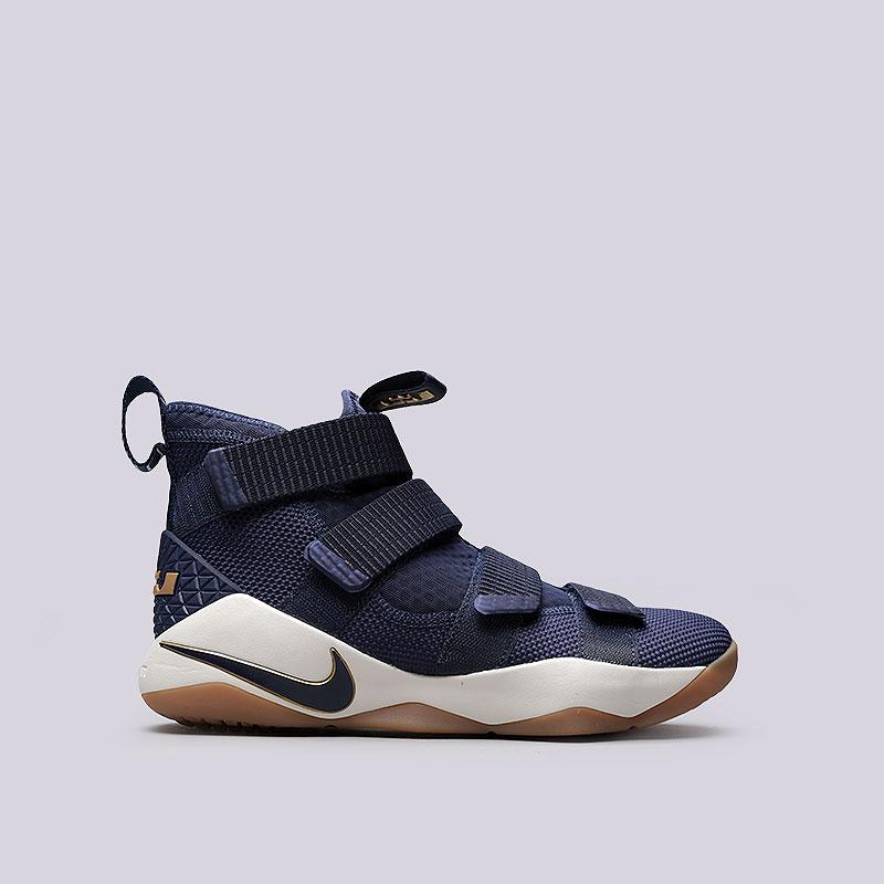 Кроссовки Nike Lebron Soldier XIКроссовки баскетбольные<br>Текстиль, резина<br><br>Цвет: Синий<br>Размеры US: 8;8.5;9;9.5;10;10.5;11<br>Пол: Мужской