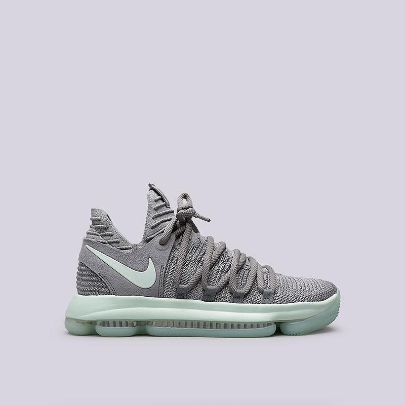 Кроссовки Nike Zoom KD 10Кроссовки баскетбольные<br>Текстиль, резина<br><br>Цвет: Серый<br>Размеры US: 7;7.5;8;8.5;9;9.5;10;10.5;11;11.5;12;14<br>Пол: Мужской