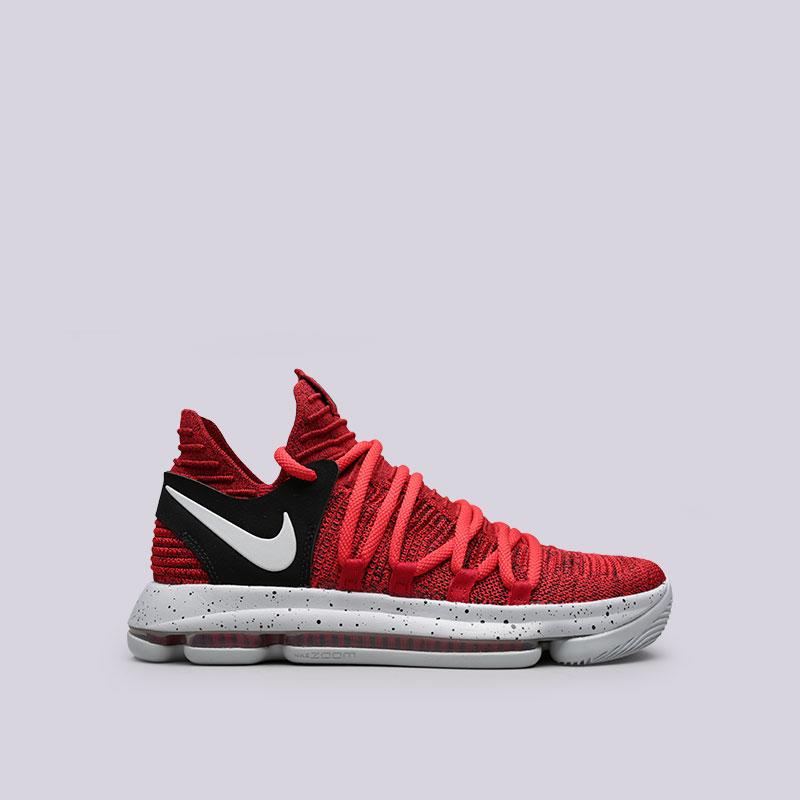 Кроссовки Nike Zoom KD 10Кроссовки баскетбольные<br>Текстиль, резина<br><br>Цвет: Красный<br>Размеры US: 8;8.5;9<br>Пол: Мужской