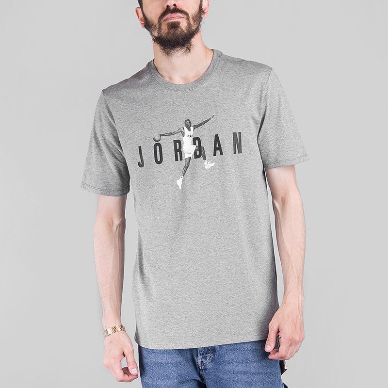 Футболка Jordan M JSW TEE MODERN 2Футболки<br>Хлопок<br><br>Цвет: Серый<br>Размеры US: S;M;L;XL;2XL<br>Пол: Мужской