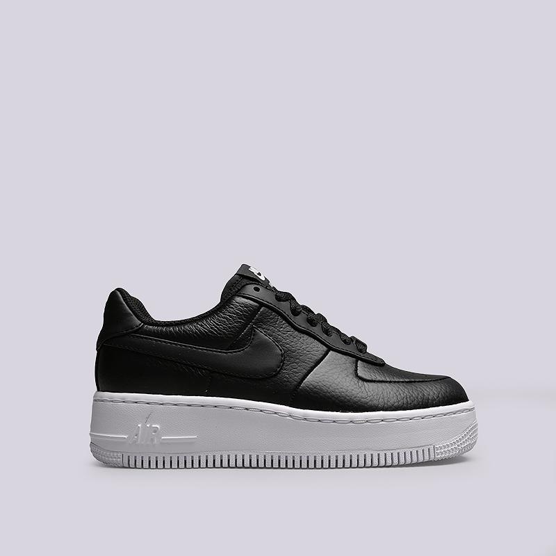 Кроссовки Nike WMNS Air Force 1 UpstepКроссовки lifestyle<br>Кожа, тестиль, резина<br><br>Цвет: Черный<br>Размеры US: 6.5;7<br>Пол: Женский