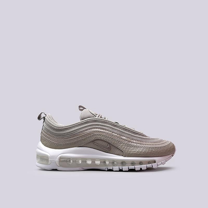 Кроссовки Nike Sportswear WMNS Air Max 97 PRMКроссовки lifestyle<br>Текстиль, резина<br><br>Цвет: Бежевый<br>Размеры US: 6;7;8.5;9<br>Пол: Женский