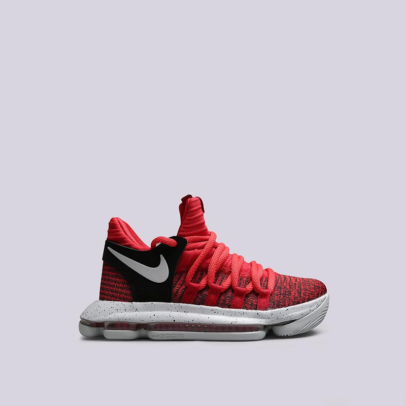 Кроссовки Nike Zoom KD10 GSКроссовки lifestyle<br>Текстиль, резина<br><br>Цвет: Красный<br>Размеры US: 3.5Y;4Y;4.5Y;5Y;5.5Y;6Y;7Y<br>Пол: Женский