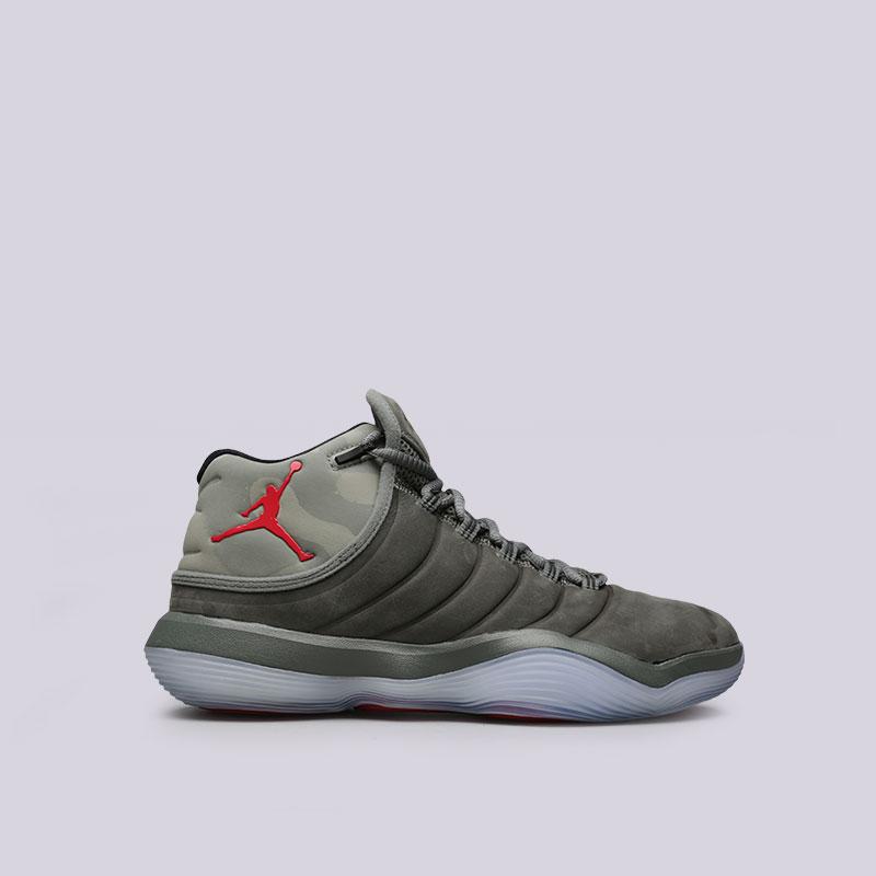Кроссовки Jordan Super.Fly 2017Кроссовки баскетбольные<br>Текстиль, синтетика, резина<br><br>Цвет: Оливковый<br>Размеры US: 8;8.5;9;9.5;10;11<br>Пол: Мужской
