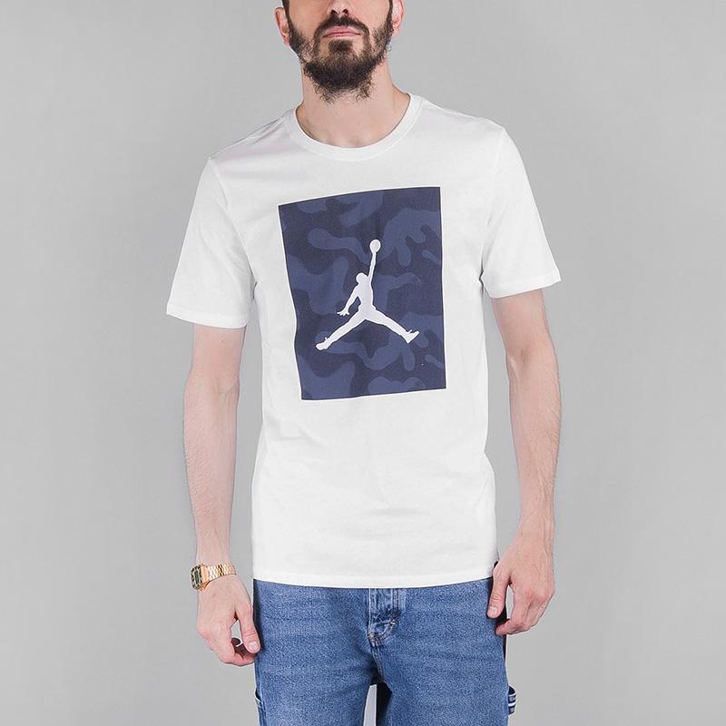Футболка Jordan M JSW TEE JUMPMAN P51 CAMOФутболки<br>Хлопок<br><br>Цвет: Белый<br>Размеры US: M<br>Пол: Мужской