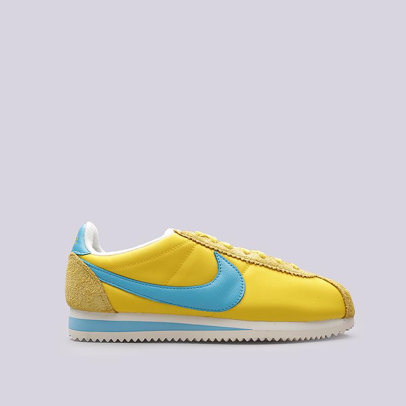 Кроссовки Nike Sportswear Classic Cortez NYL KM QSКроссовки lifestyle<br>Кожа, текстиль, резина<br><br>Цвет: Желтый, голубой<br>Размеры US: 7;7.5;8;8.5;9;9.5;10<br>Пол: Мужской