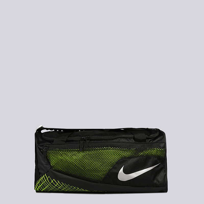Cумка Nike Vapor Max Air Training Duffel Bag 52LСумки, рюкзаки<br>Полиэстер<br><br>Цвет: Черный, салатовый<br>Размеры US: OS