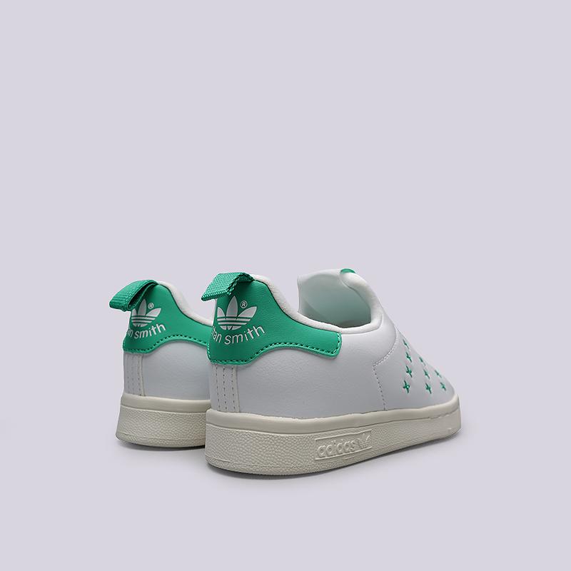 8ad33ef0 детские белые, зеленые кроссовки adidas stan smith 360 c BA7281 - цена,  описание,