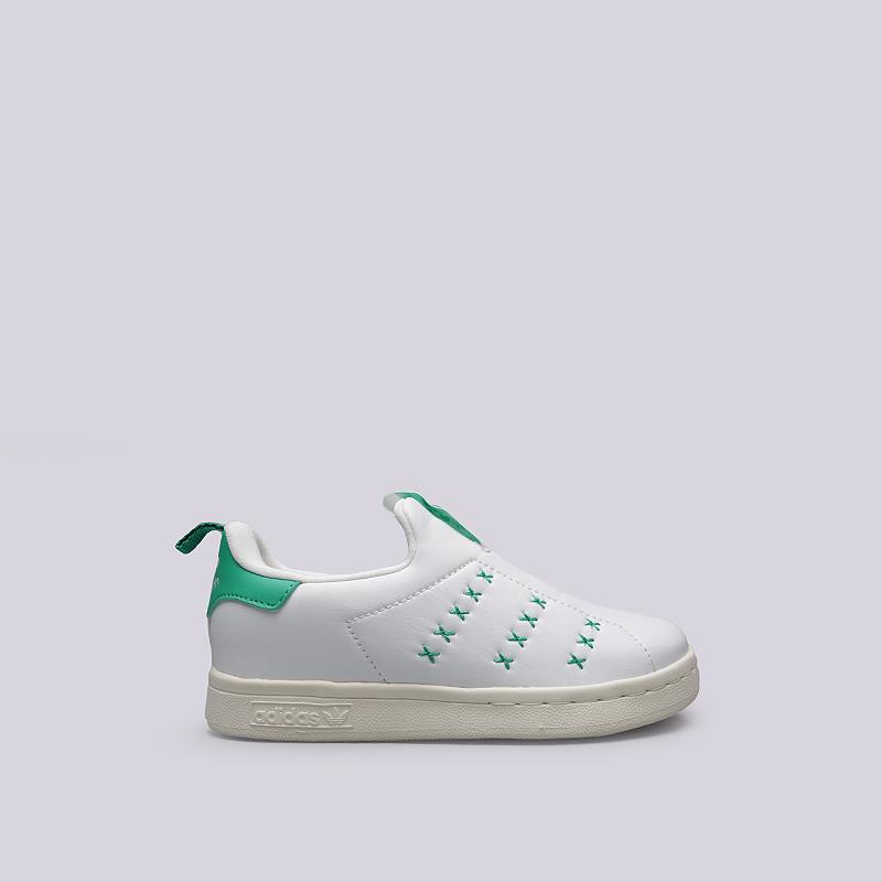 Кроссовки adidas Originals Stan Smith 360 CКроссовки lifestyle<br>Искусственная кожа, резина<br><br>Цвет: Белый, зеленый<br>Размеры UK: 28;29;30;31;32;33;34;35<br>Пол: Детский