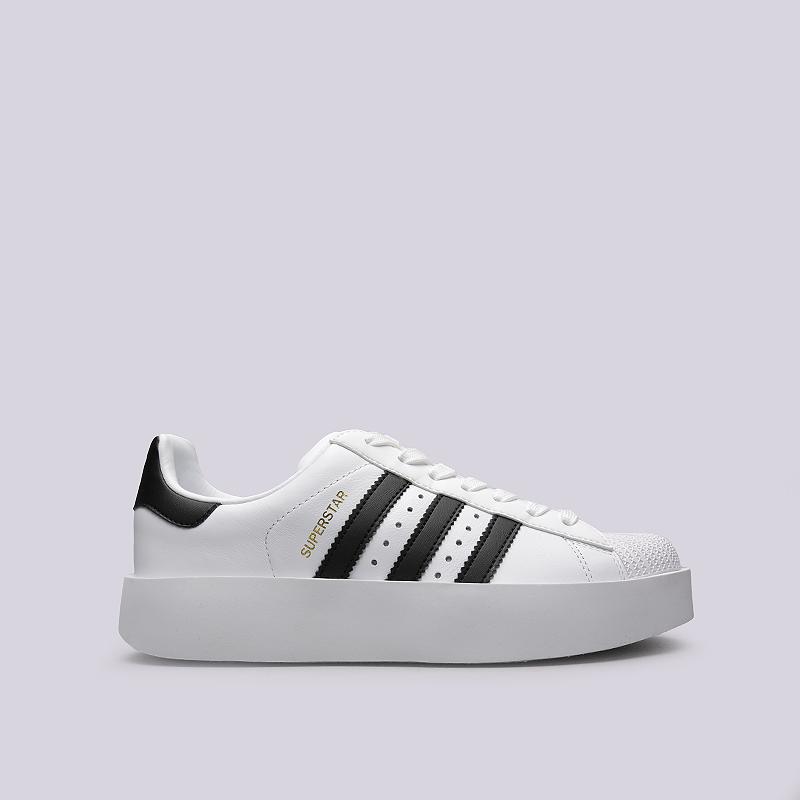354c54276885 женские белые, черные кроссовки adidas superstar bold w BA7666 - цена,  описание, фото