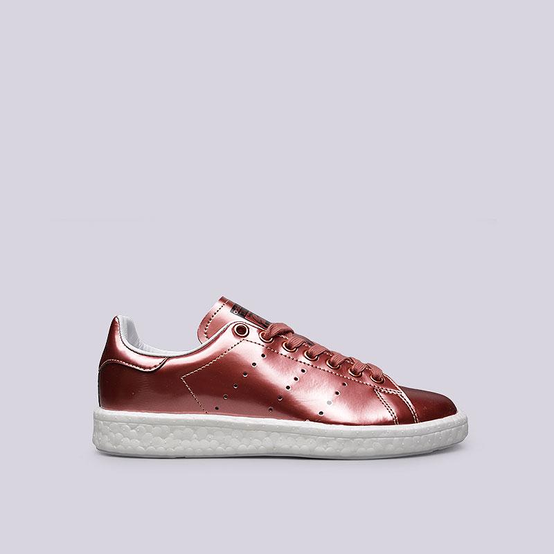 женские бордовые  кроссовки adidas stan smith w BB0107 - цена, описание, фото 1