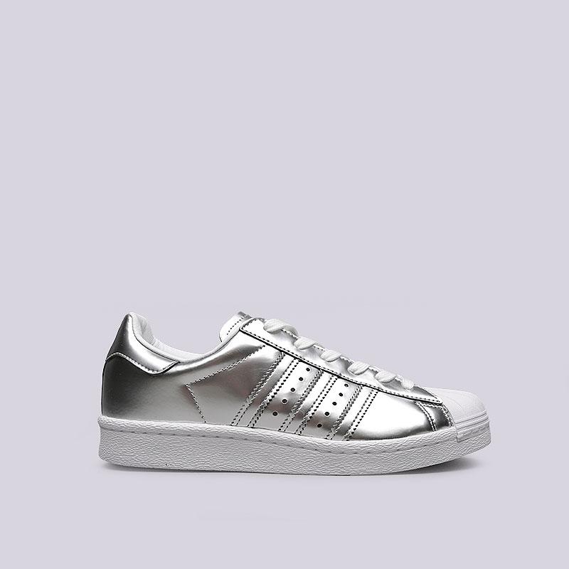 Кроссовки adidas Originals Superstar WКроссовки lifestyle<br>Синтетика, текстиль, резина<br><br>Цвет: Серебряный<br>Размеры UK: 5;5.5;6.5;7;7.5;8;8.5<br>Пол: Женский