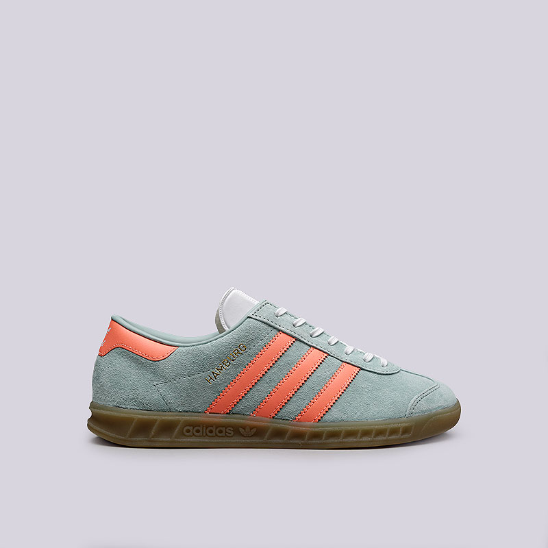 Кроссовки adidas Originals Hamburg WКроссовки lifestyle<br>Кожа, резина<br><br>Цвет: Мятный<br>Размеры UK: 5.5;6;6.5;7;7.5;8;8.5<br>Пол: Женский