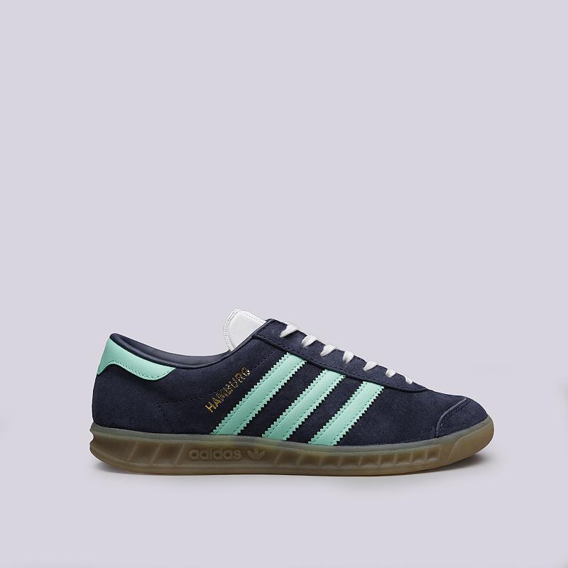 fc01f69f женские синие кроссовки adidas hamburg w BB5112 - цена, описание, фото 1