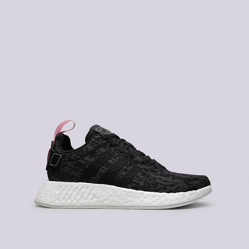 Кроссовки adidas NMD_R2 WКроссовки lifestyle<br>Текстиль, резина<br><br>Цвет: Черный, серый<br>Размеры UK: 5;5.5;6;6.5;7;7.5;8<br>Пол: Женский