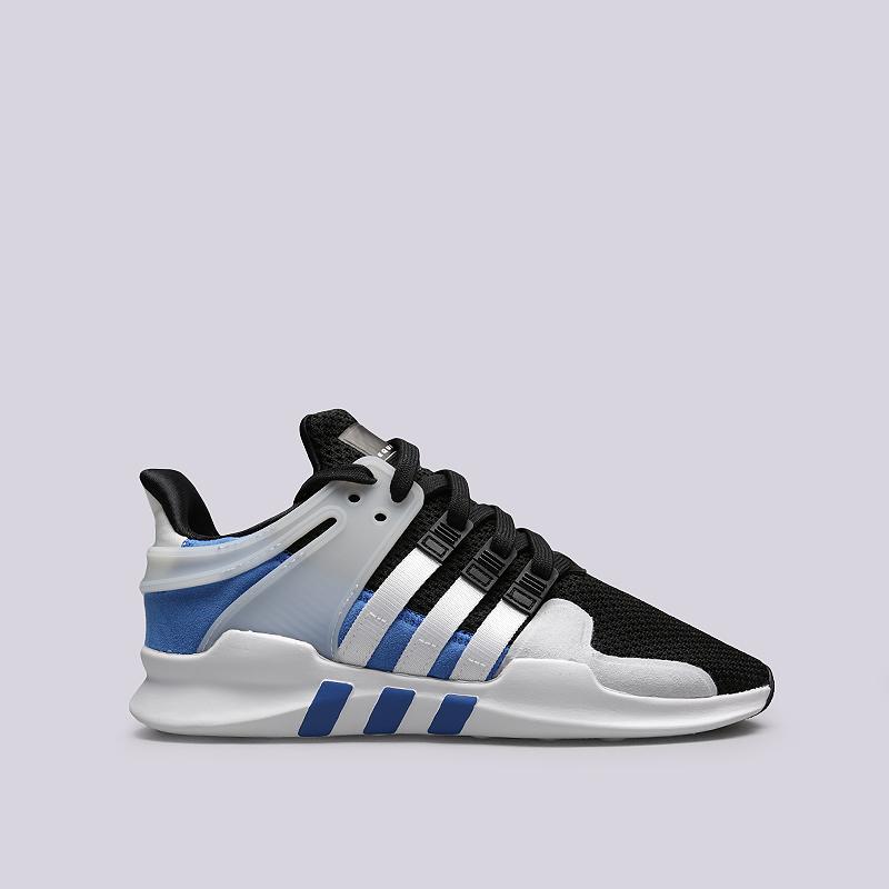 Кроссовки adidas EQT Support ADVКроссовки lifestyle<br>Текстиль, резина, пластик<br><br>Цвет: Черный, белый, синий<br>Размеры UK: 7<br>Пол: Мужской