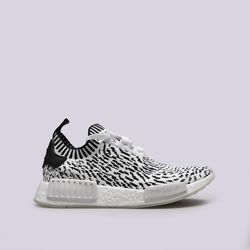 Кроссовки adidas NMD_R1 PKКроссовки lifestyle<br>Текстиль, резина<br><br>Цвет: Черный, белый<br>Размеры UK: 7;7.5;10<br>Пол: Мужской
