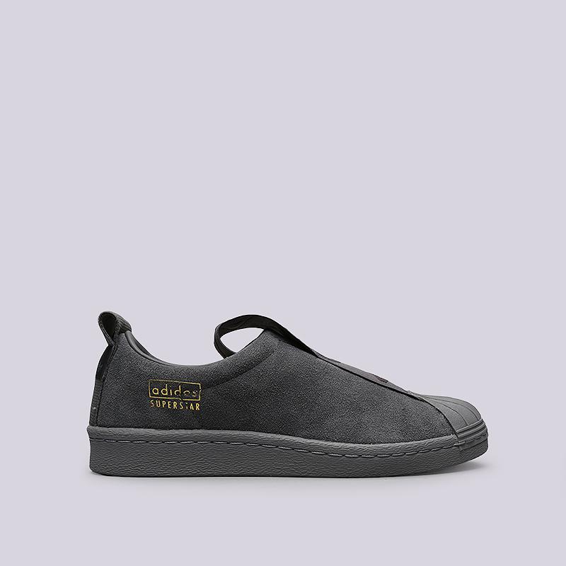 Кроссовки adidas Originals Superstar BW3S Slipon WКроссовки lifestyle<br>Кожа, текстиль, резина<br><br>Цвет: Серый<br>Размеры UK: 5;6;6.5;7;7.5;8<br>Пол: Женский