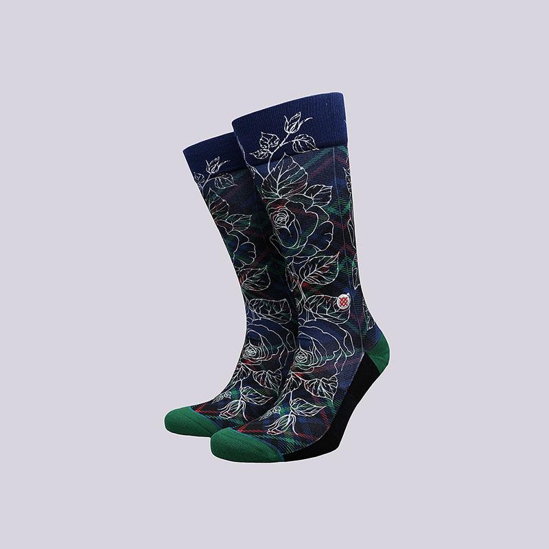 Носки Stance Wade Floral Plaid 2Носки<br>Полиэстер, хлопок, эластан<br><br>Цвет: Черный<br>Размеры : L<br>Пол: Мужской