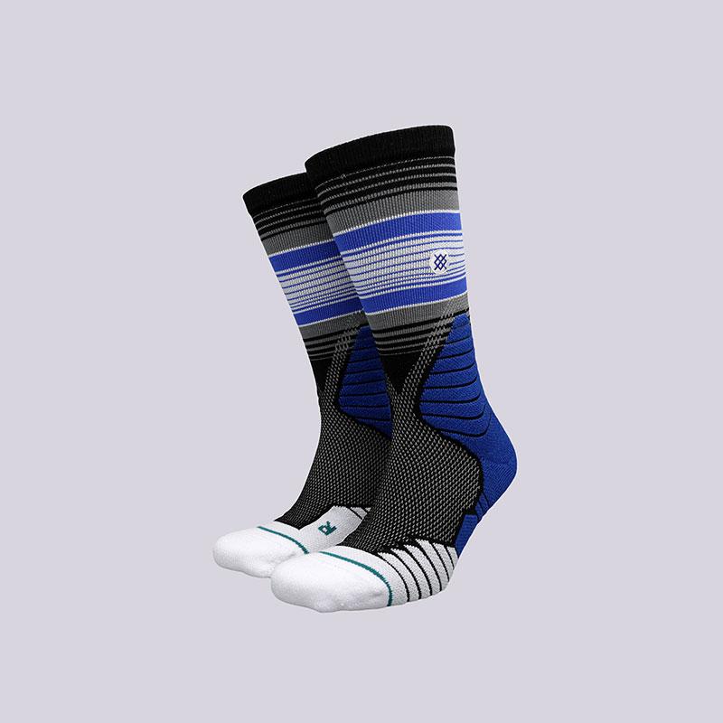 мужские синие  носки stance three point M559A17THR- BLACK - цена, описание, фото 1