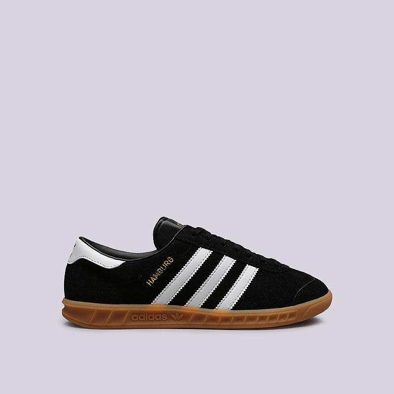 Кроссовки adidas HamburgКроссовки lifestyle<br>Кожа, резина<br><br>Цвет: Черный<br>Размеры UK: 5.5;6;6.5;7;7.5;8;8.5;9;9.5;10;10.5;11;11.5;12