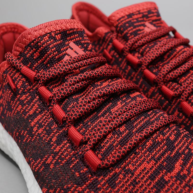 Купить мужские красные  кроссовки adidas pureboost в магазинах Streetball изображение - 5 картинки