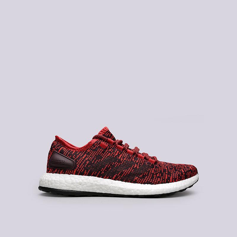 Купить мужские красные  кроссовки adidas pureboost в магазинах Streetball изображение - 1 картинки