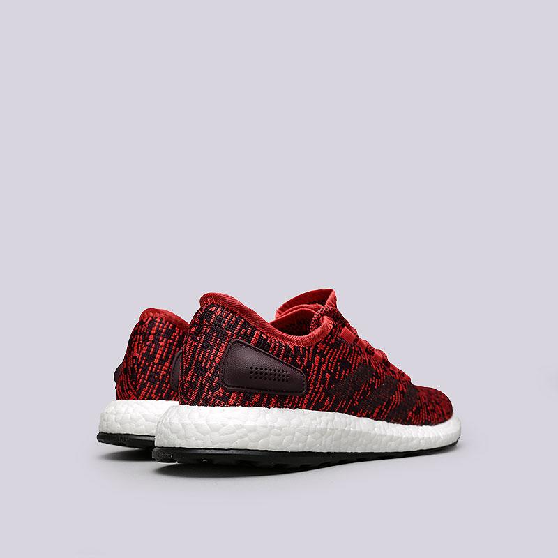 Купить мужские красные  кроссовки adidas pureboost в магазинах Streetball изображение - 3 картинки