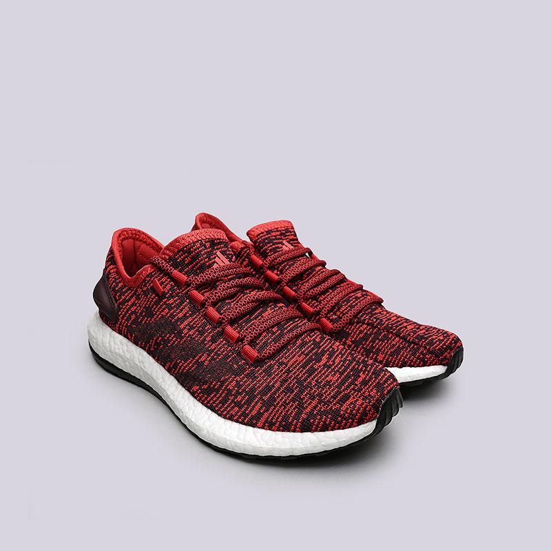 Купить мужские красные  кроссовки adidas pureboost в магазинах Streetball изображение - 4 картинки