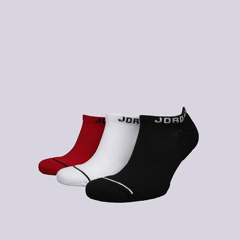Носки Jordan Jumpman No-Show SocksНоски<br>Хлопок, синтетика<br><br>Цвет: Черный, красный, белый<br>Размеры US: M;L;XL<br>Пол: Мужской