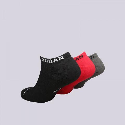 мужские красные, чёрные, серые  носки jordan jumpman no show 3 pack socks SX5546-019 - цена, описание, фото 2