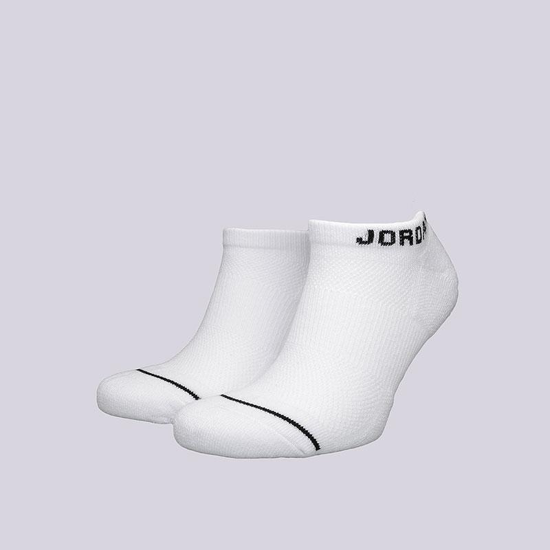 Носки Jordan Jumpman No-Show SocksНоски<br>Хлопок, синтетика<br><br>Цвет: Белый<br>Размеры US: L<br>Пол: Мужской