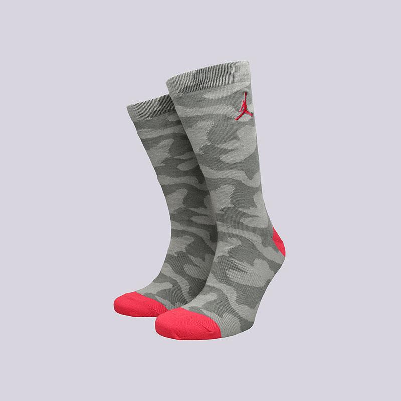 Носки Jordan P51 CrewНоски<br>Хлопок, нейлон, эластан<br><br>Цвет: Серый<br>Размеры US: M;L;XL<br>Пол: Мужской