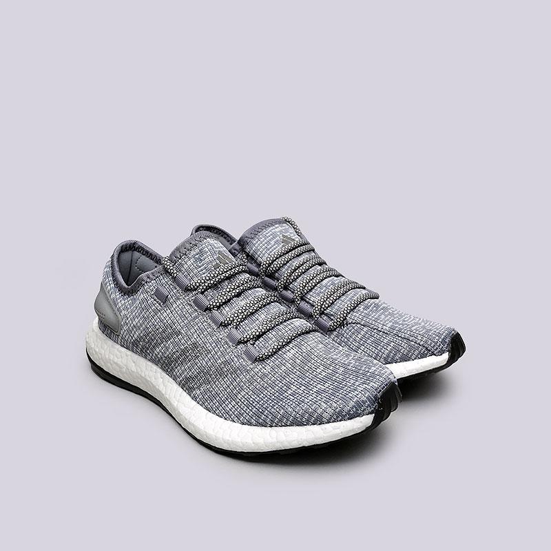 мужские серые  кроссовки adidas pureboost ba8900 - цена, описание, фото 3