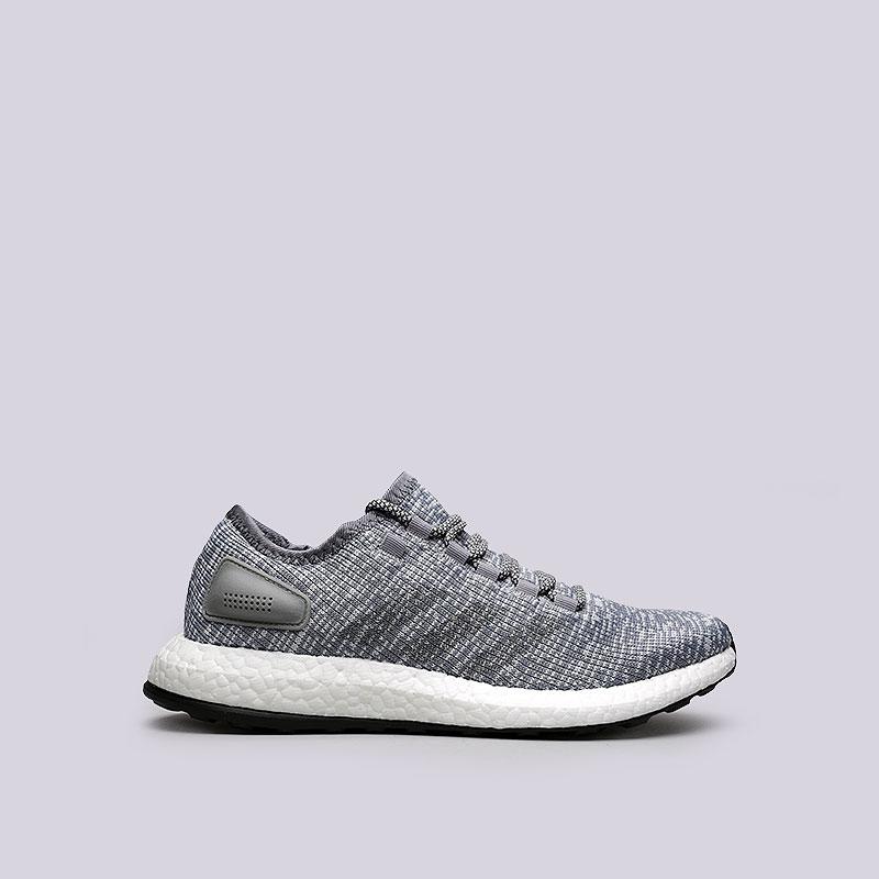 Кроссовки adidas PureBoostКроссовки lifestyle<br>Текстиль, синтетика, резина<br><br>Цвет: Серый<br>Размеры UK: 7;8;8.5;9;9.5;10;10.5;11<br>Пол: Мужской
