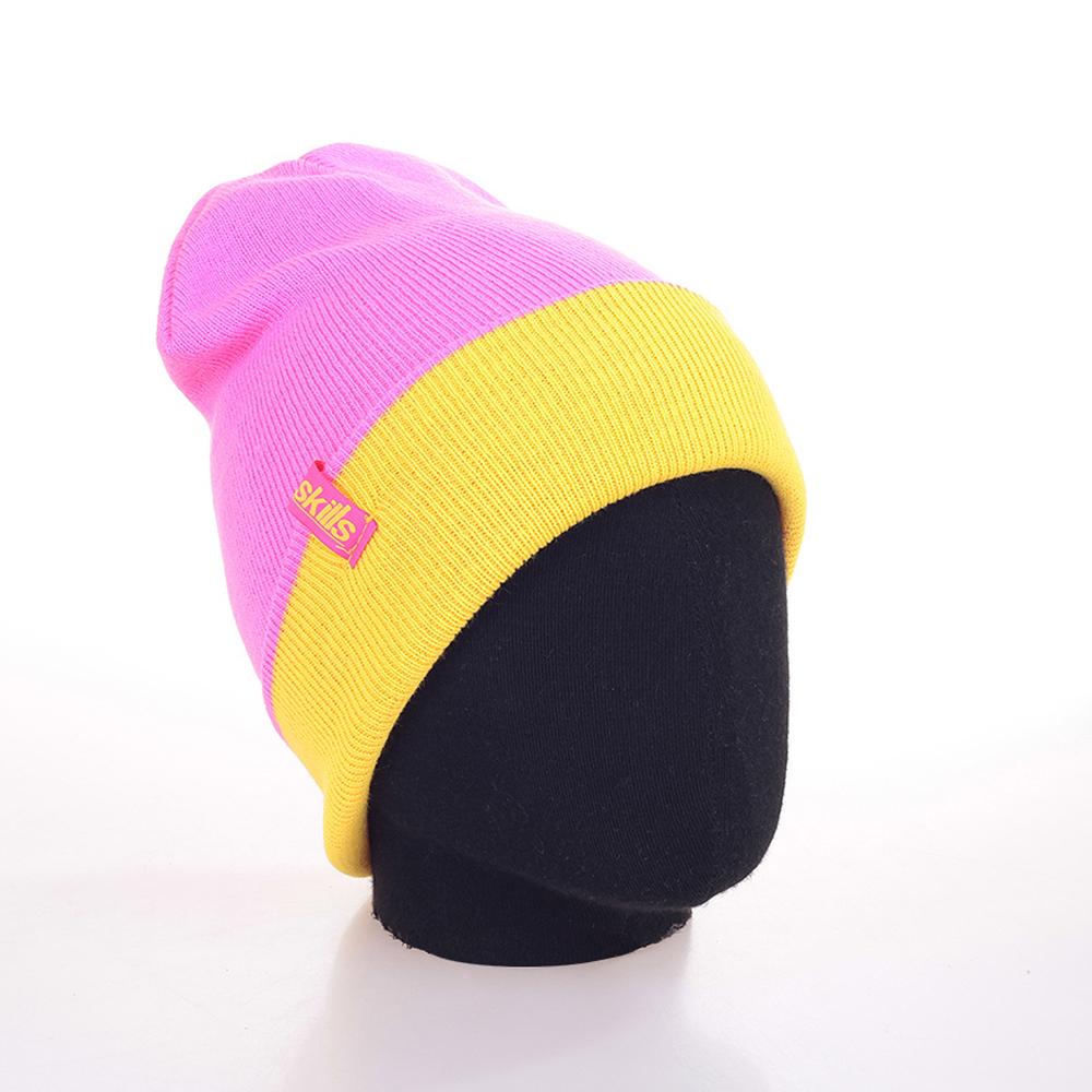 Шапка ReversibleШапки<br>100% акрил<br><br>Цвет: желтый, розовый<br>Размеры : 1