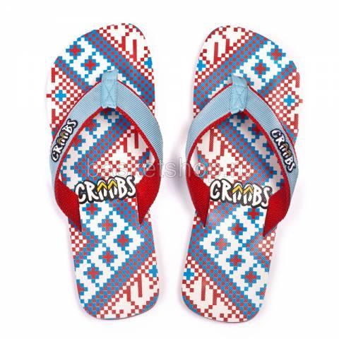 синие, красные  сланцы etno life 203/R-03 - цена, описание, фото 2