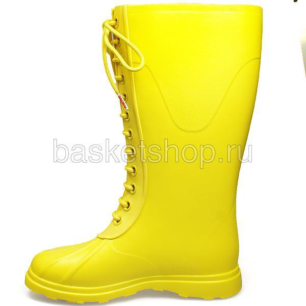 Купить женские желтые  сапоги в магазинах Streetball изображение - 2 картинки