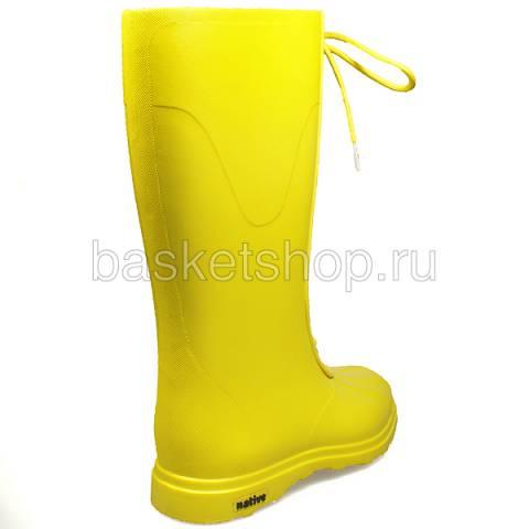 женские желтые  сапоги GLM07-CY - цена, описание, фото 3