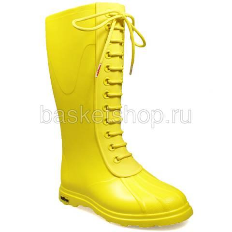 Купить женские желтые  сапоги в магазинах Streetball - изображение 1 картинки