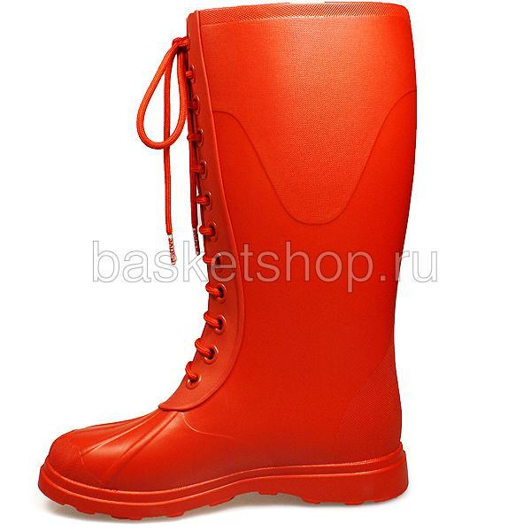 Купить женские красные  сапоги в магазинах Streetball изображение - 2 картинки